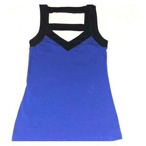 Express Blue and Black top